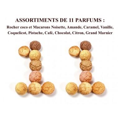 Rochers Coco & Macarons 10 parfums Coffret 20 pièces